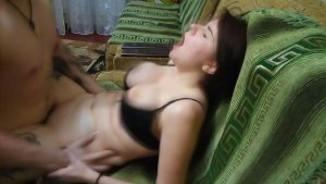 fuck young tattooed girl with big tits on the couch